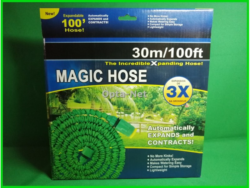 Садовый шланг для полива Magic Hose 30м Распылитель в подарок