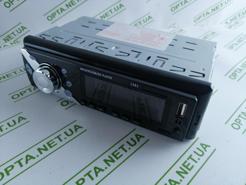 Автомагнитола  Pioner 1281 ISO MP3/FM/USB/microSD-карта