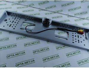 Рамка номера с камерой заднего вида с подсветкой (Серый)