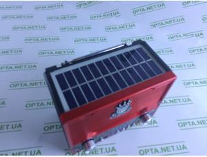 Радиоприемник NS-1556 BTS / bluetooth / с солнечной панелью (Красный)