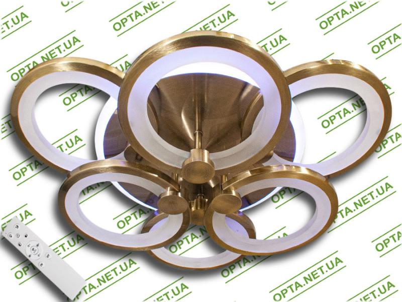 Светодиодная люстра MX2280/3+3S BR LED 3color dimmer (Бронза) 105W