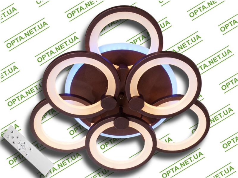 Светодиодная люстра MX2280/3+3S BK LED 3color dimmer (Чёрный) 105W