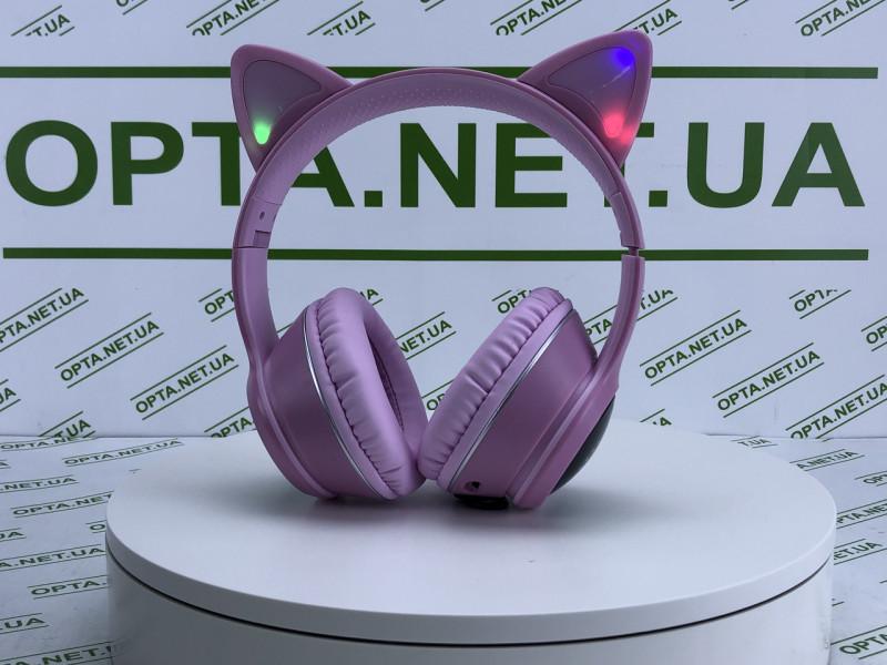 Беспроводные наушники с кошачьими ушками AKZ-K26  (Розовые) 9454