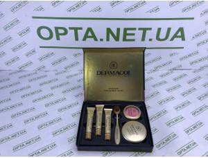 Косметический набор 6 в 1  тональный крем +пудра +румяна +щеточка для нанесения Dermacol