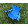 Стул складной для пикника, туризма, рыбалки с подстаканником и чехлом синий