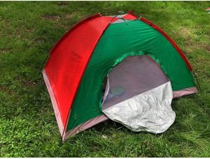 Палатка туристическая  2 х 1,5 м best 5 красно-зеленая