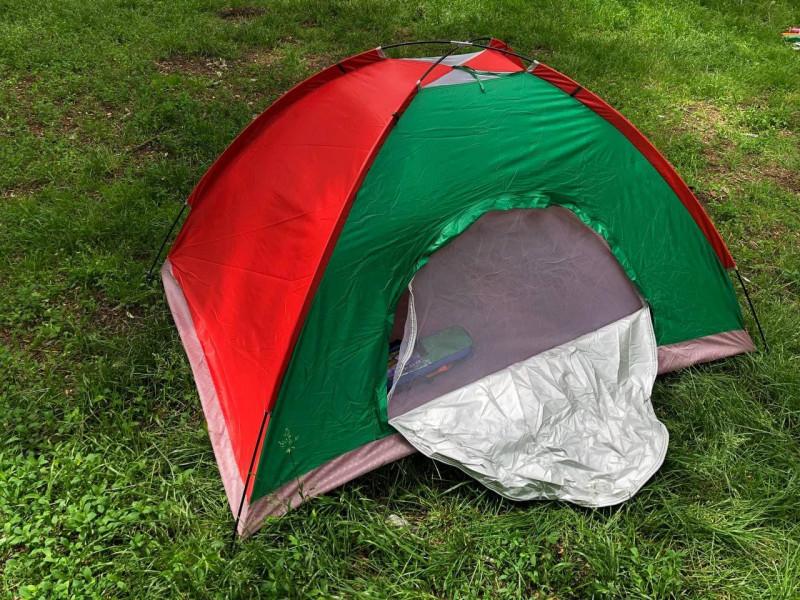 Палатка туристическая  2 х 1,5 м bsest 5 красно-зеленая