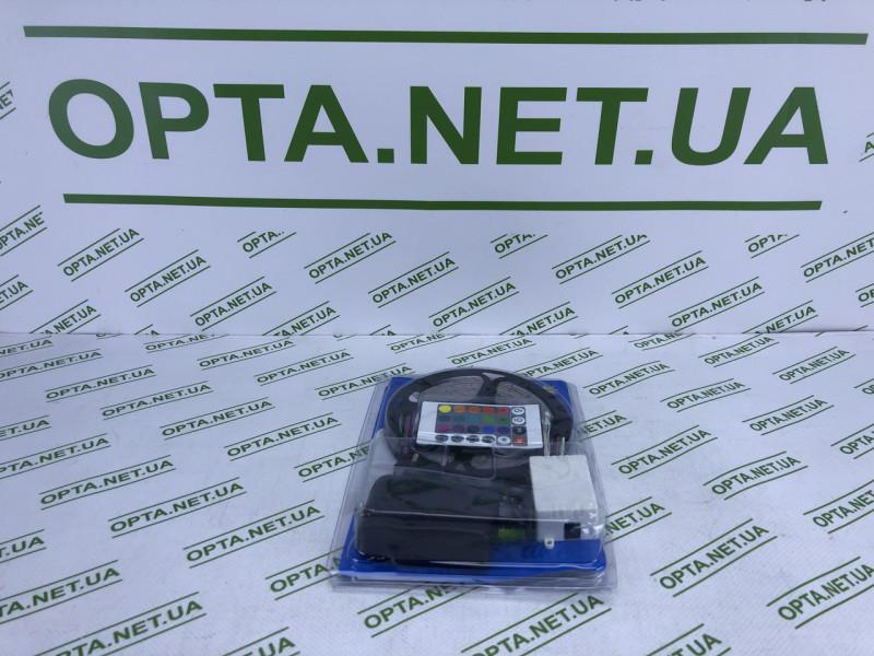 Светодиодная лента LED 1077-1 RGB нарезная самоклеющаяся с пультом и блоком питания 5 м