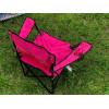 Стул складной для пикника, туризма, рыбалки с подстаканником и чехлом синий Розовый