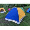 Палатка туристическая 2.5x2 м best 4 желто-синяя
