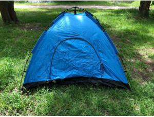 Палатка туристическая 2.3x2,3 м best 3 синяя