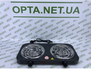 Электрическая плита на 2 спирали BITEK BT-9087B 2000Вт, 155мм, 220V, 5 режимов, эмаль, плиты настольные