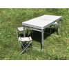 Кемпинговый усиленный набор складной стол + 4 стульчика (Белый)