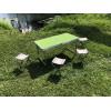 Кемпинговый усиленный набор складной стол + 4 стульчика  (Зеленый)