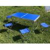 Кемпинговый набор складной стол 4 стульчика (Синий)