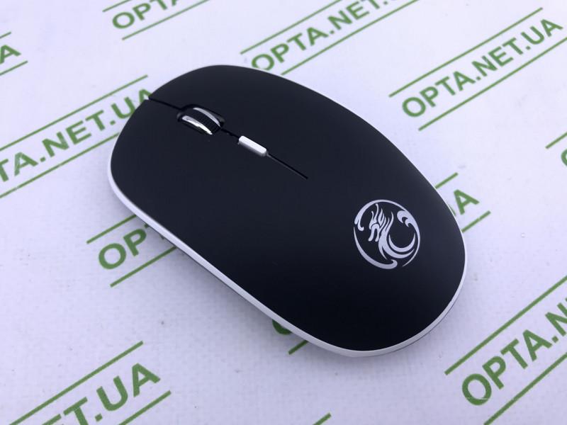 Мышка беспроводная плоская 1600dpi iMice G-1600, серая