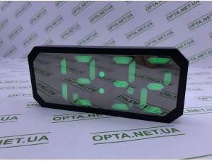 Часы универсальные с будильником, зеркальные, с подсветкой 6606