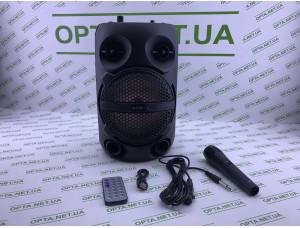 Колонка портативная KIMISO QS-611 с пультом и микрофоном