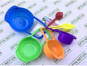 Набор мерных ложек из пластика - 6 шт