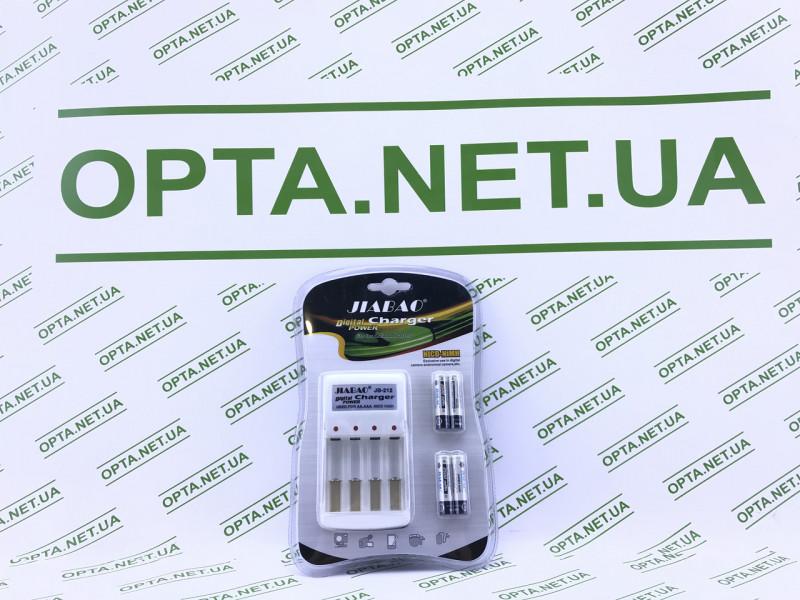 Комплект: зарядное устройство с ААА аккумуляторами Jiabao Digital Charger JB-212 AA/AAA белый