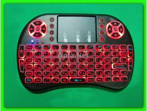 Bluetooth клавиатура с тачпадом RT-MWK08 REDLED подсветка