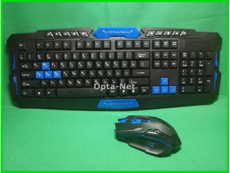 Комплект компьютерная игровая клавиатура и мышь HK8100