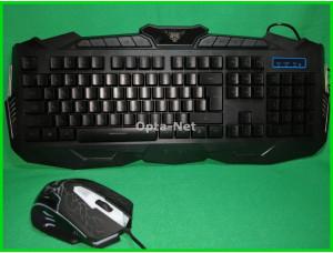 Комплект  игровая клавиатура и мышь  V100 (с подсветкой)